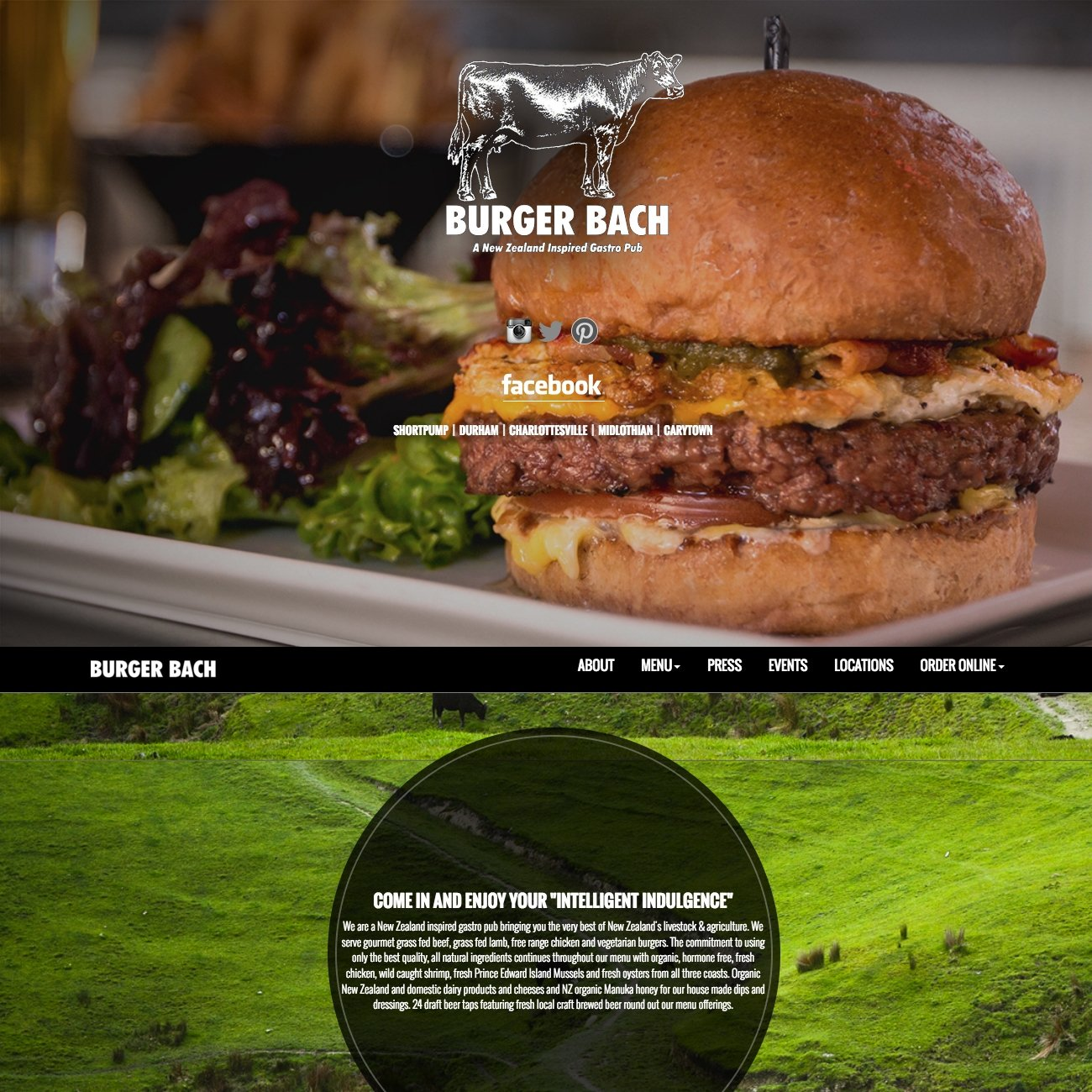 picture of Burger Bach home page