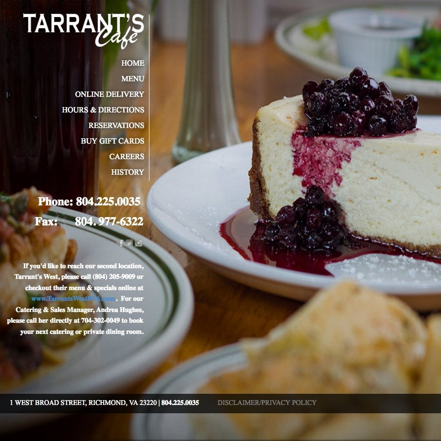 picture of Tarrants home page