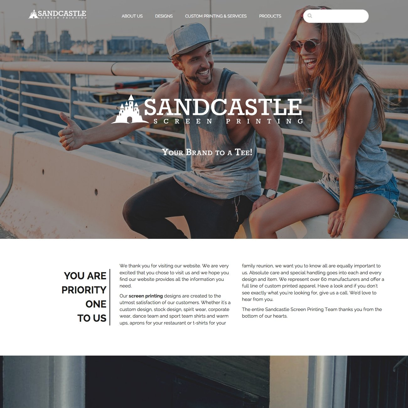 picture of Sandcastle home page