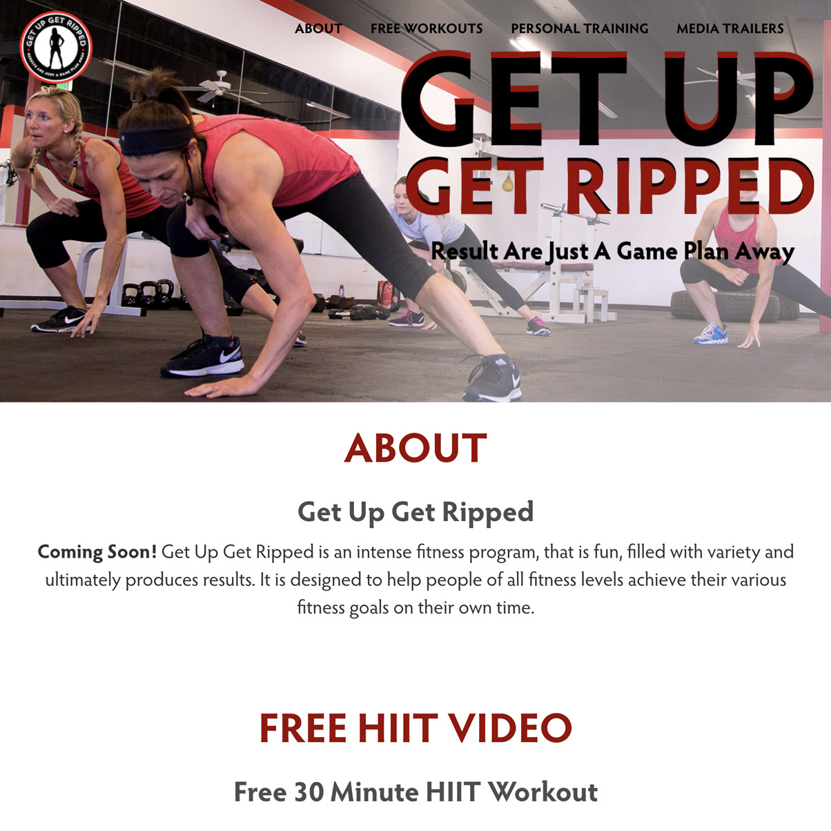 Get Up Get Ripped Home Page