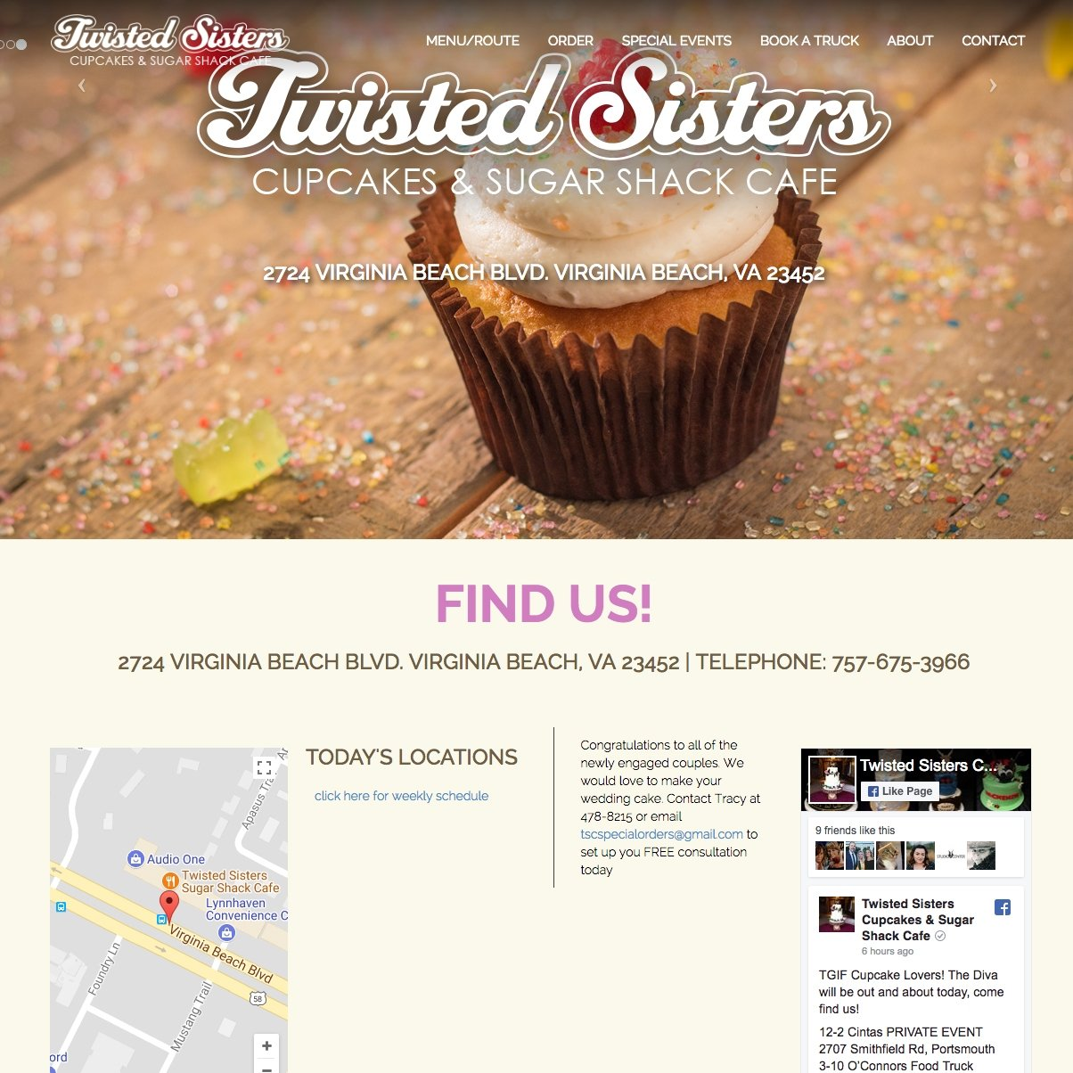 picture of Twisted Sisters home page