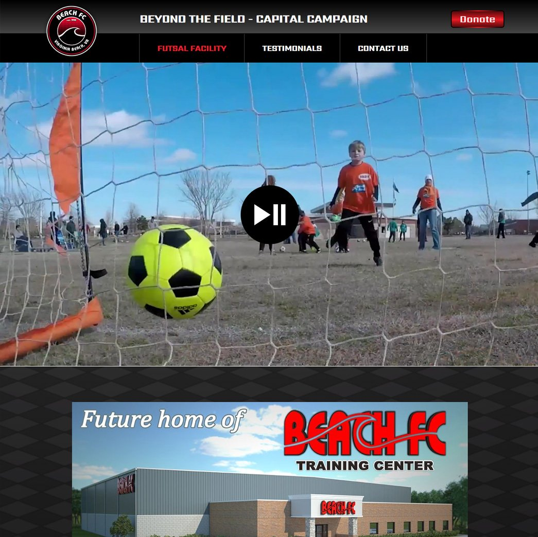 picture of Beach FC web page