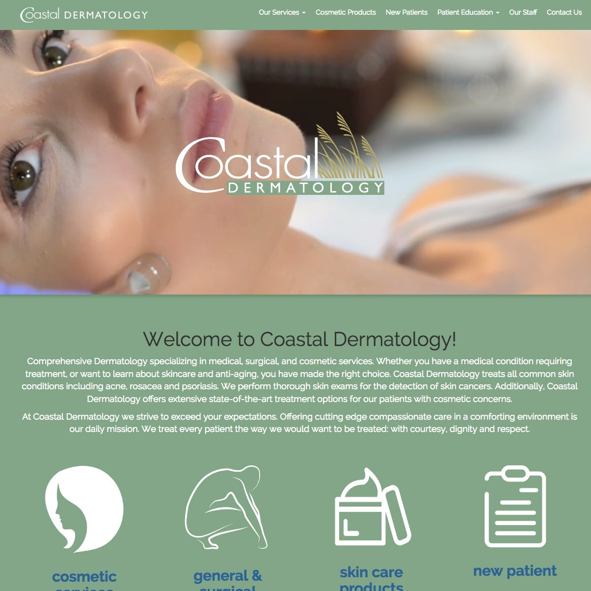 picture of Coastal Dermatology home page