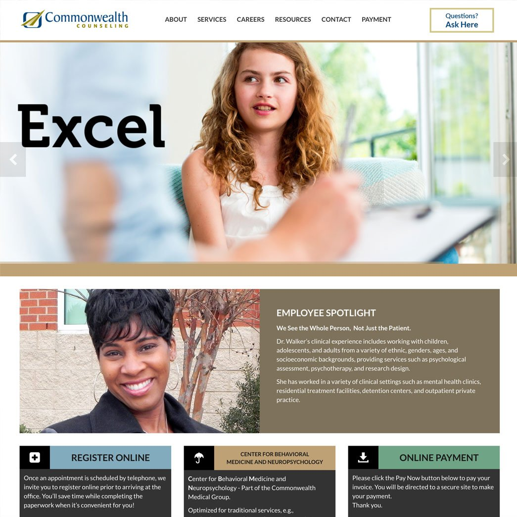 piocture of Commonwealth Counseling home page