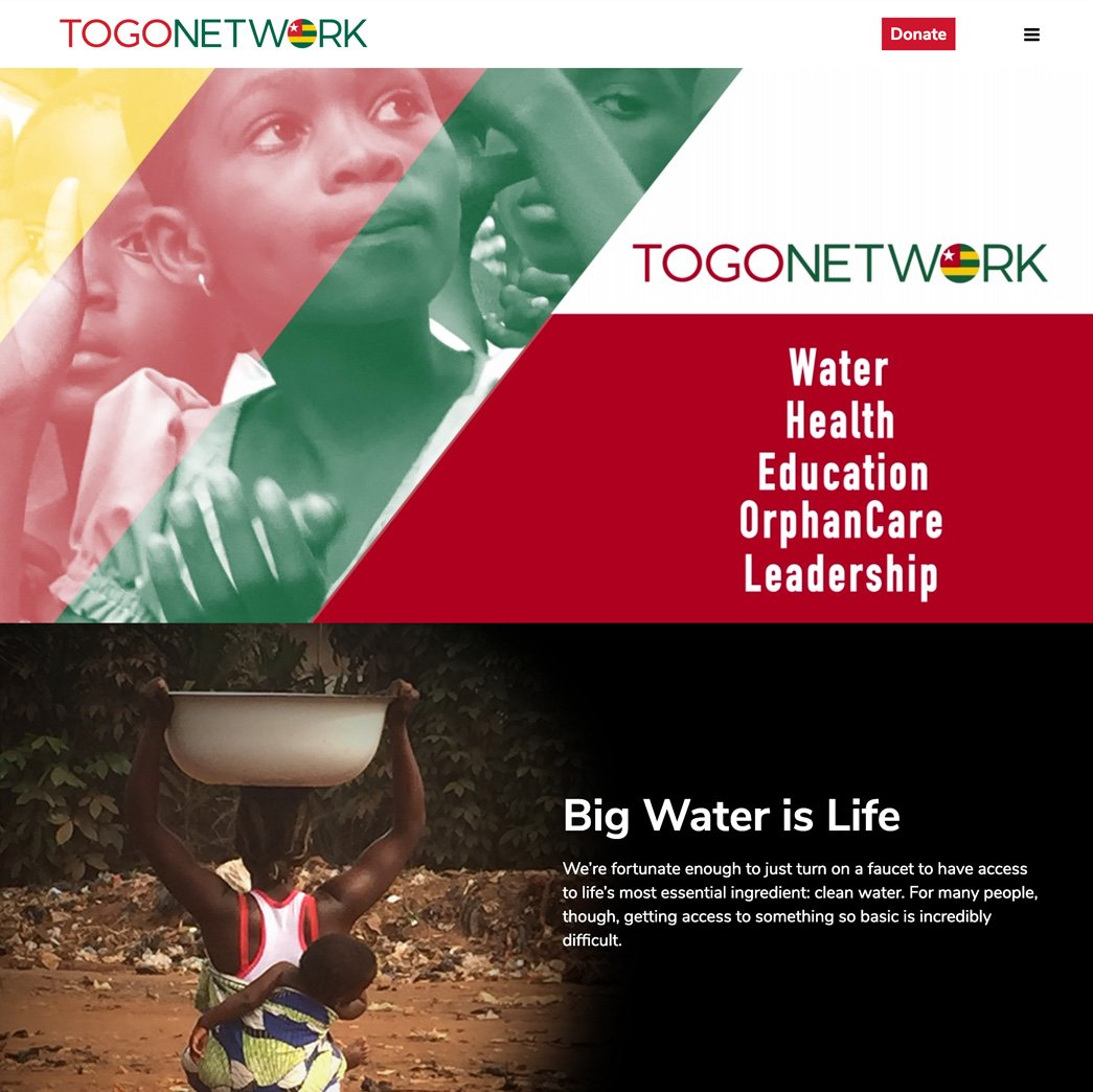 picture of the togo network home page