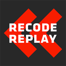 recode replay podcast graphic