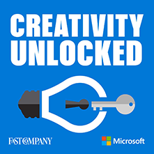 creativity unlocked podcast graphic